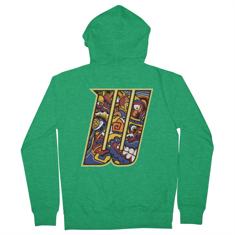 Crazy Face_W004 Women's Zip-Up Hoody by Art of Yaky Artist Shop