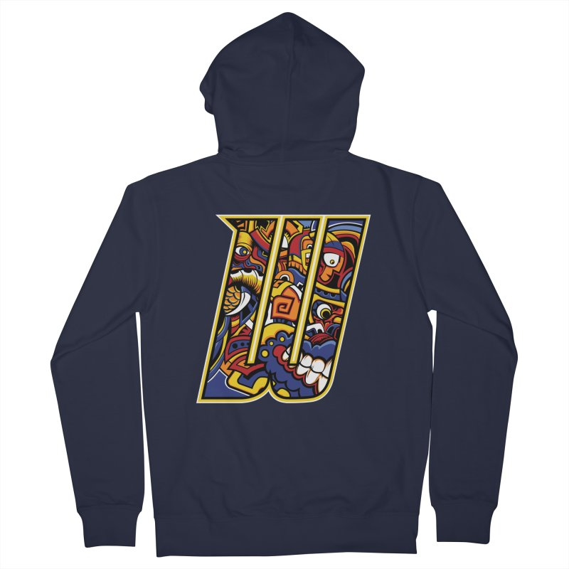Crazy Face_W004 Women's French Terry Zip-Up Hoody by Art of Yaky Artist Shop