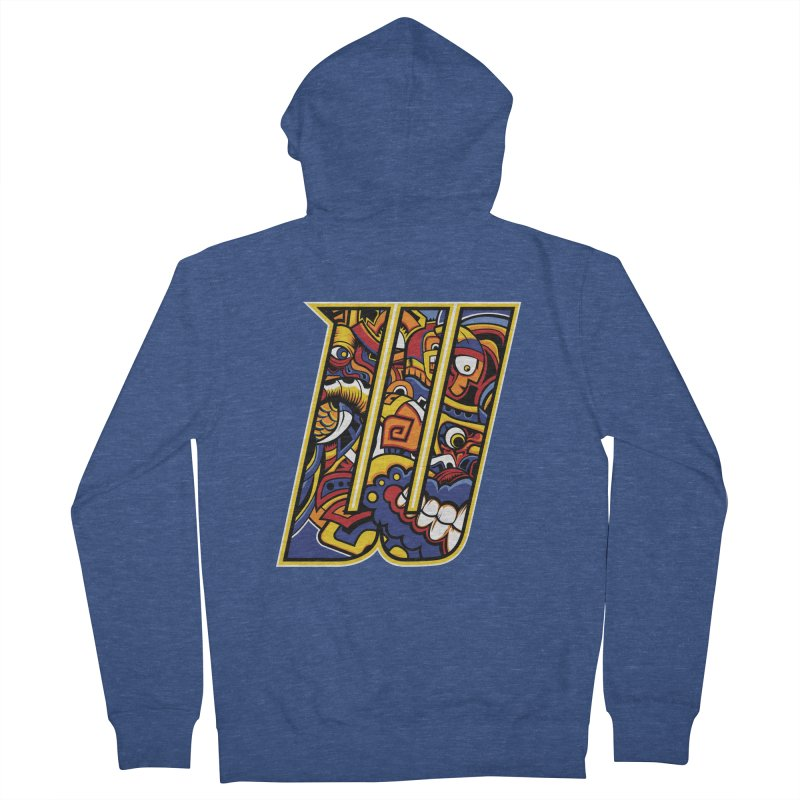 Crazy Face Alphabet (W) Men's Zip-Up Hoody by Art of Yaky Artist Shop