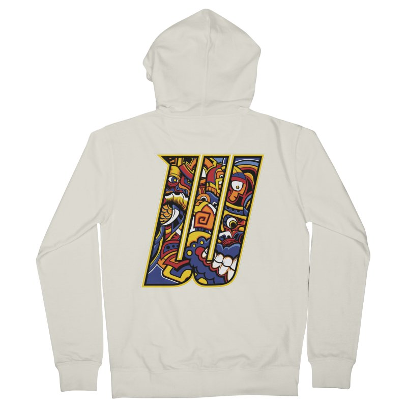 Crazy Face_W004 Men's French Terry Zip-Up Hoody by Art of Yaky Artist Shop