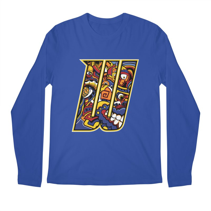 Crazy Face_W004 Men's Regular Longsleeve T-Shirt by Art of Yaky Artist Shop