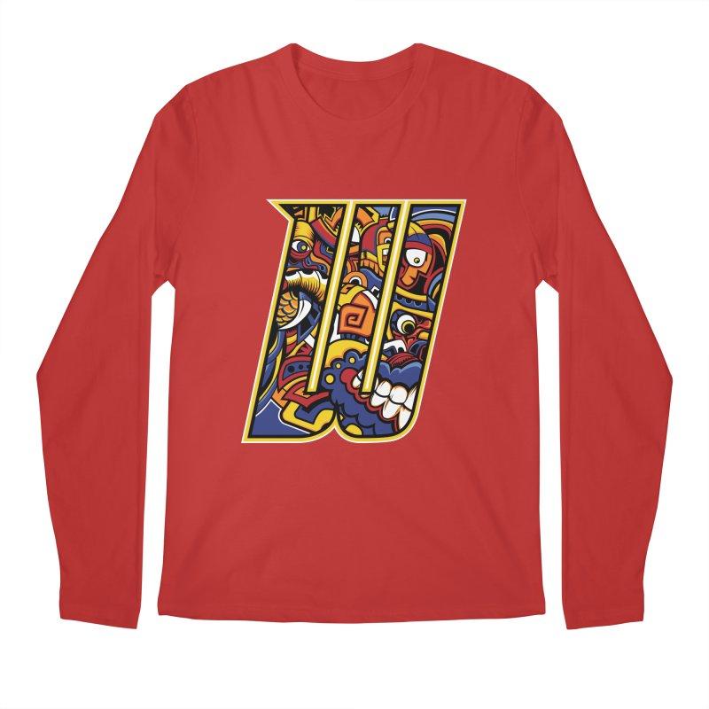 Crazy Face_W004 Men's Regular Longsleeve T-Shirt by Art of Yaky Artist Shop