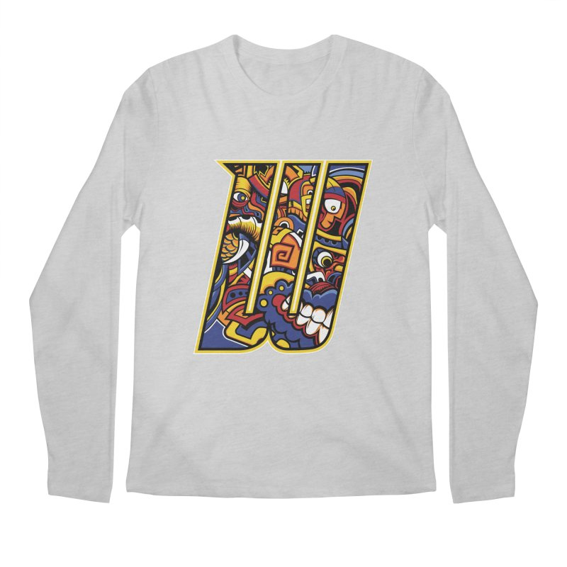 Crazy Face Alphabet (W) Men's Longsleeve T-Shirt by Yaky's Customs