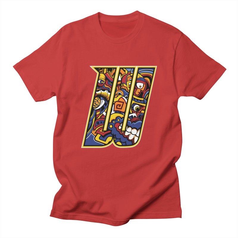 Crazy Face_W004 Men's Regular T-Shirt by Art of Yaky Artist Shop