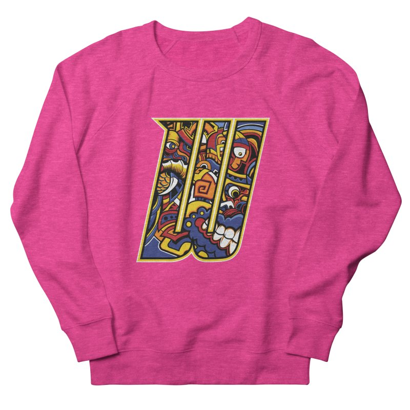 Crazy Face_W004 Women's French Terry Sweatshirt by Art of Yaky Artist Shop