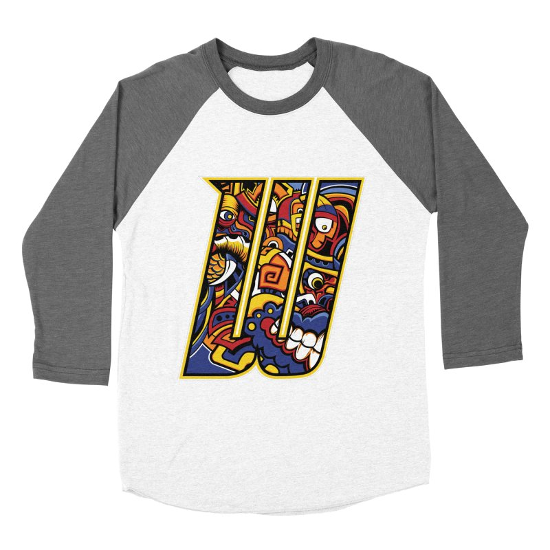 Crazy Face_W004 Women's Baseball Triblend Longsleeve T-Shirt by Art of Yaky Artist Shop