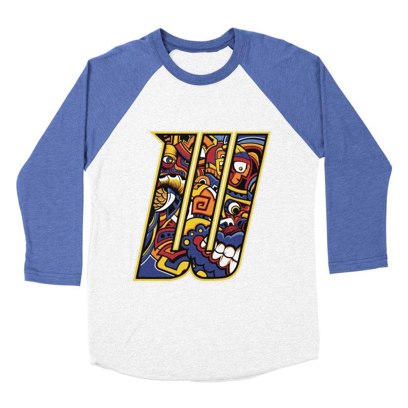 Crazy Face_W004 Men's Baseball Triblend Longsleeve T-Shirt by Art of Yaky Artist Shop