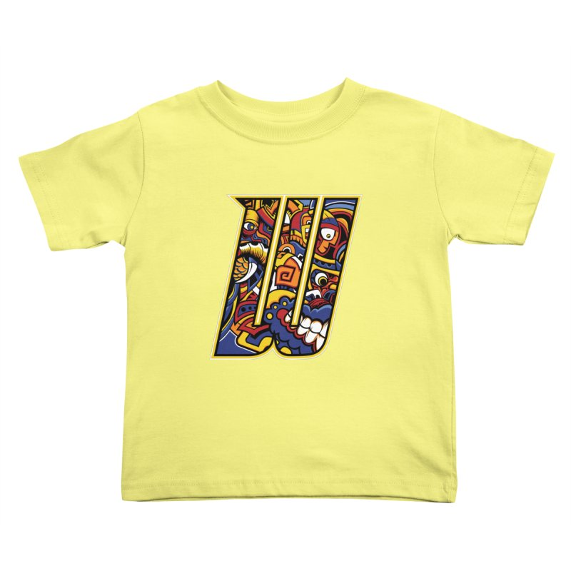 Crazy Face_W004 Kids Toddler T-Shirt by Art of Yaky Artist Shop