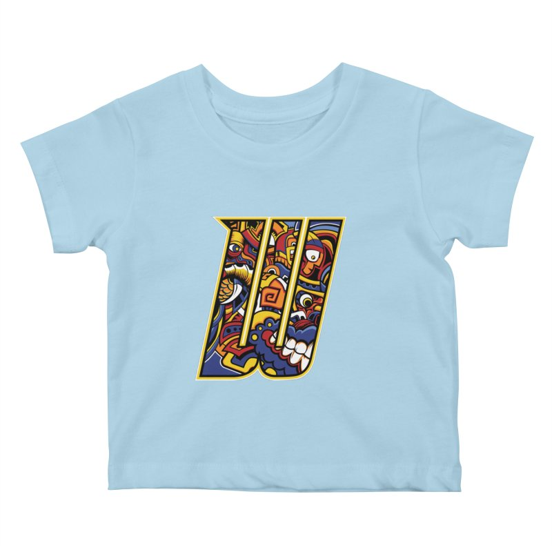 Crazy Face_W004 Kids Baby T-Shirt by Art of Yaky Artist Shop
