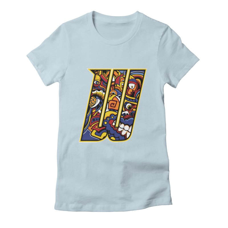 Crazy Face Alphabet (W) Women's T-Shirt by Yaky's Customs