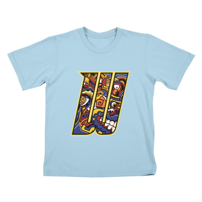Crazy Face_W004 Kids T-Shirt by Art of Yaky Artist Shop