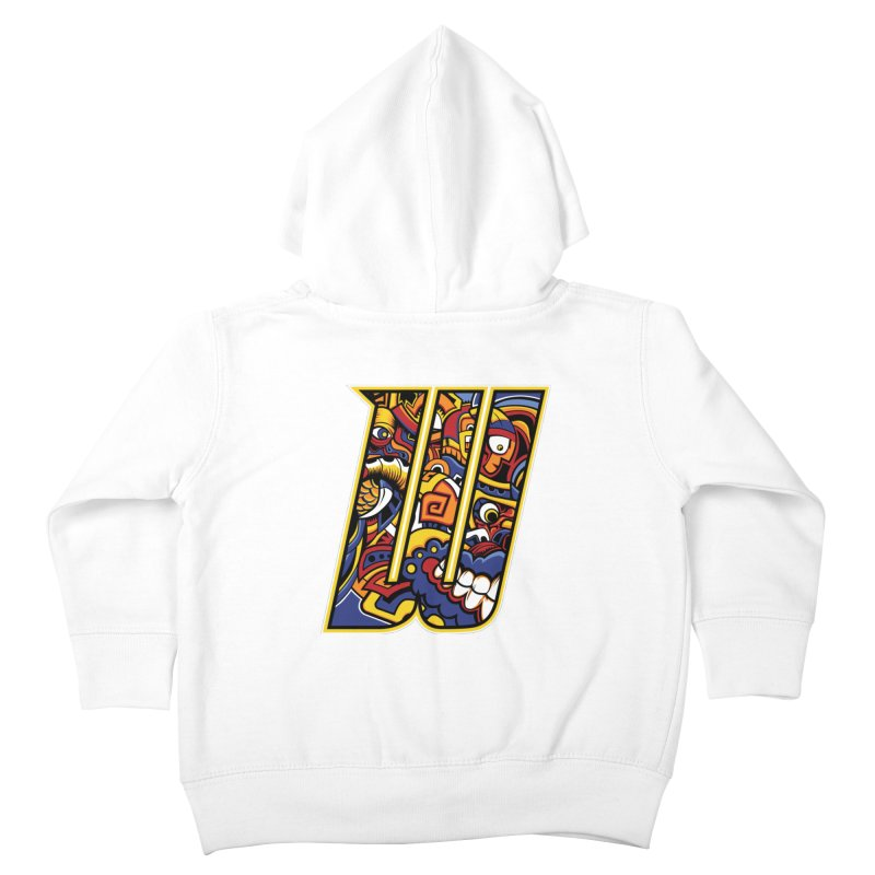 Crazy Face_W004 Kids Toddler Zip-Up Hoody by Art of Yaky Artist Shop