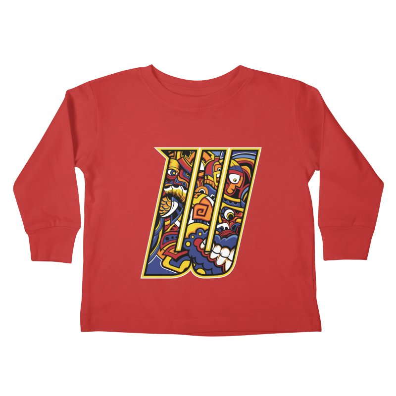 Crazy Face_W004 Kids Toddler Longsleeve T-Shirt by Art of Yaky Artist Shop
