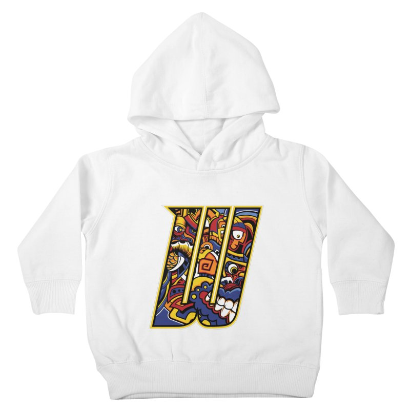 Crazy Face_W004 Kids Toddler Pullover Hoody by Art of Yaky Artist Shop