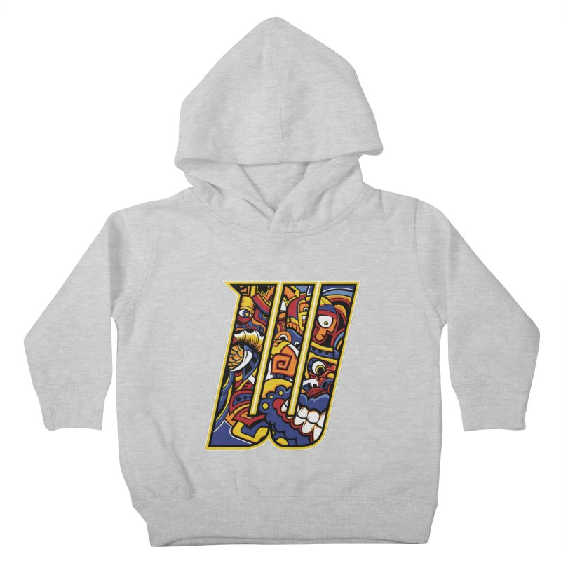 Crazy Face Alphabet (W) Kids Toddler Pullover Hoody by Yaky's Customs