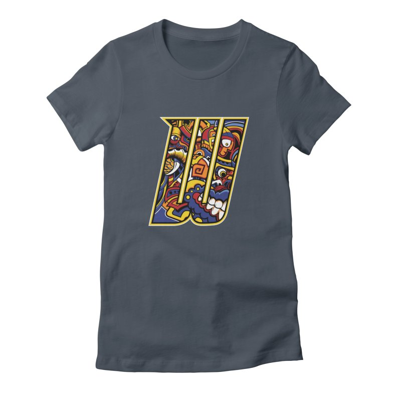 Crazy Face_W004 Women's T-Shirt by Art of Yaky Artist Shop