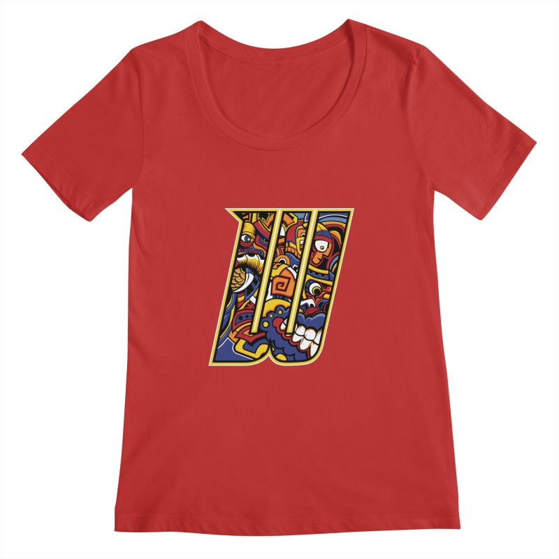 Crazy Face_W004 Women's Regular Scoop Neck by Art of Yaky Artist Shop