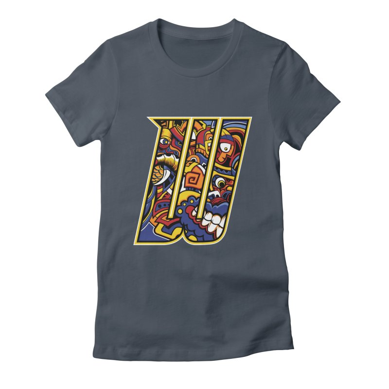 Crazy Face_W004 Women's T-Shirt by Art of Yaky Artist Shop