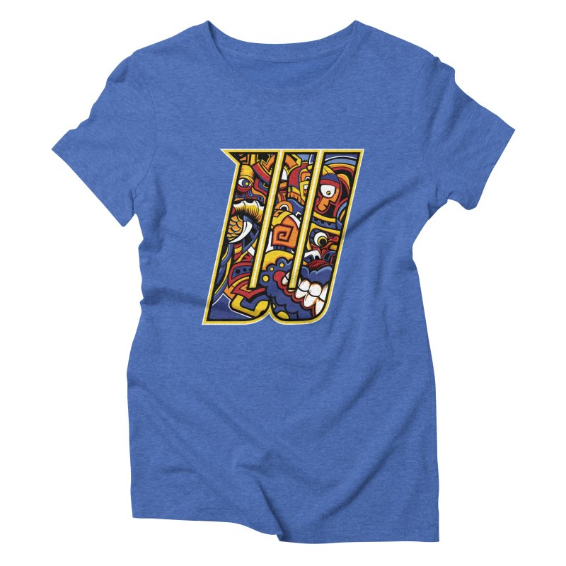Crazy Face_W004 Women's Triblend T-Shirt by Art of Yaky Artist Shop