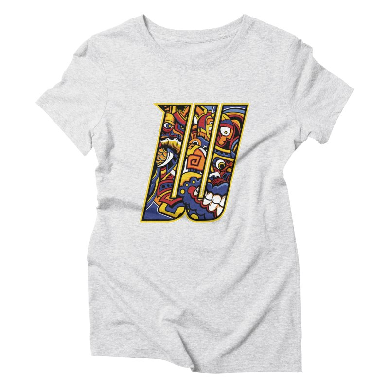 Crazy Face_W004 Women's Triblend T-Shirt by Art of Yaky Artist Shop