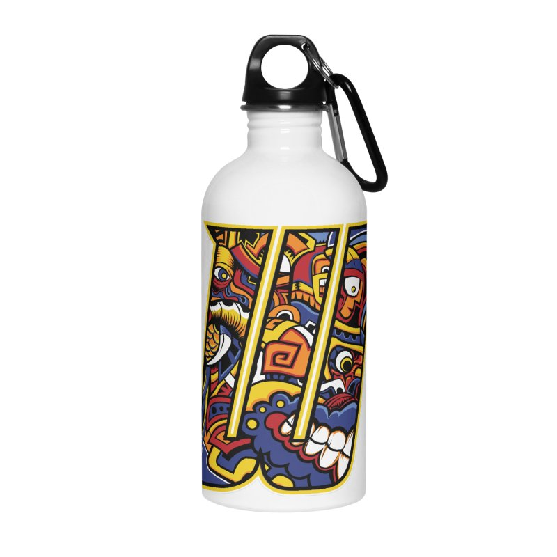 Crazy Face_W004 Accessories Water Bottle by Art of Yaky Artist Shop