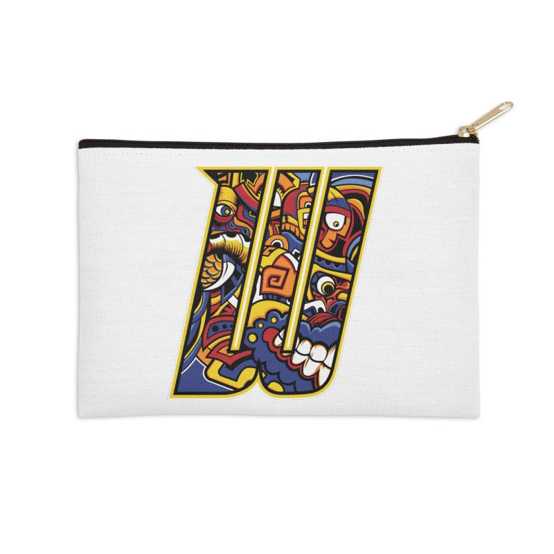 Crazy Face_W004 Accessories Zip Pouch by Art of Yaky Artist Shop