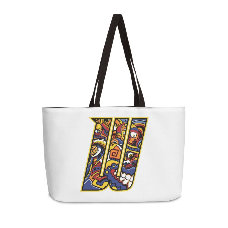 Crazy Face_W004 Accessories Weekender Bag Bag by Art of Yaky Artist Shop