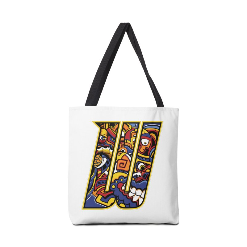 Crazy Face_W004 Accessories Tote Bag Bag by Art of Yaky Artist Shop