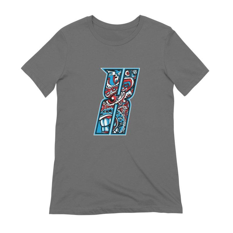 Crazy Face_X001 Women's T-Shirt by Art of Yaky Artist Shop