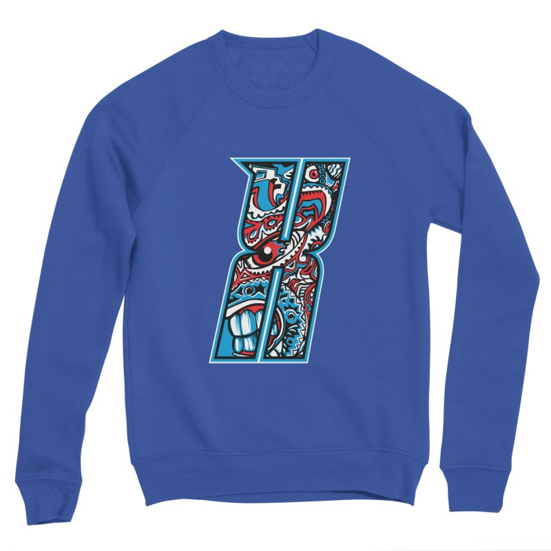 Crazy Face_X001 Women's Sweatshirt by Art of Yaky Artist Shop