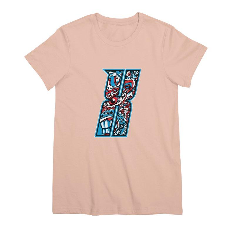 Crazy Face_X001 Women's Premium T-Shirt by Art of Yaky Artist Shop