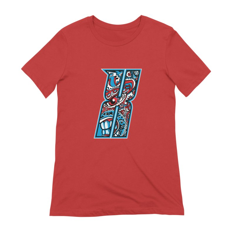 Crazy Face_X001 Women's Extra Soft T-Shirt by Art of Yaky Artist Shop