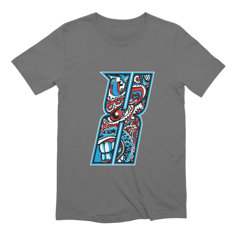 Crazy Face_X001 Men's Extra Soft T-Shirt by Art of Yaky Artist Shop
