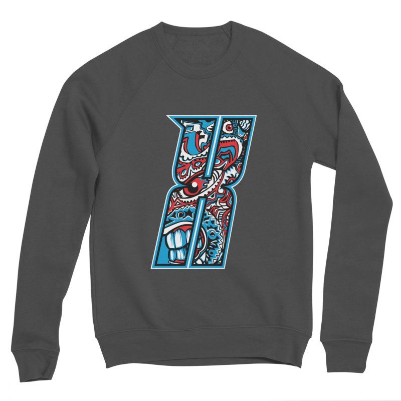 Crazy Face_X001 Women's Sponge Fleece Sweatshirt by Art of Yaky Artist Shop