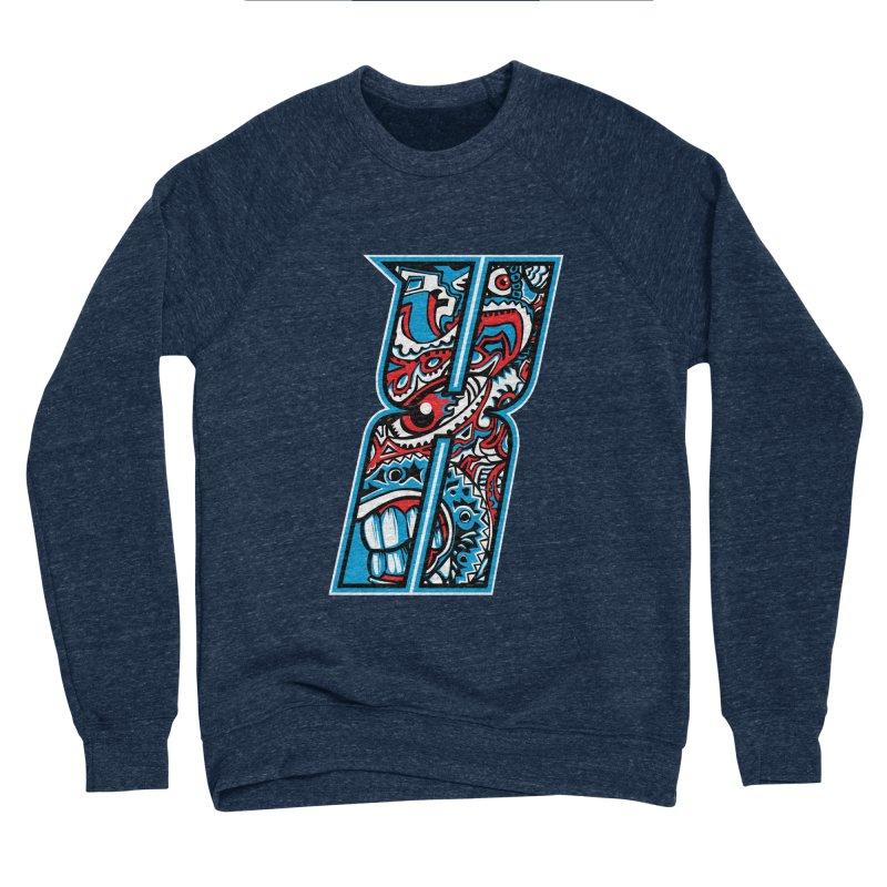Crazy Face_X001 Men's Sponge Fleece Sweatshirt by Art of Yaky Artist Shop