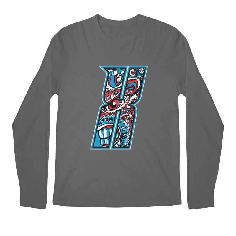 Crazy Face_X001 Men's Longsleeve T-Shirt by Art of Yaky Artist Shop
