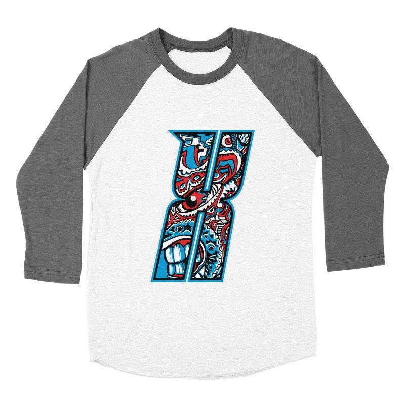 Crazy Face_X001 Women's Longsleeve T-Shirt by Art of Yaky Artist Shop
