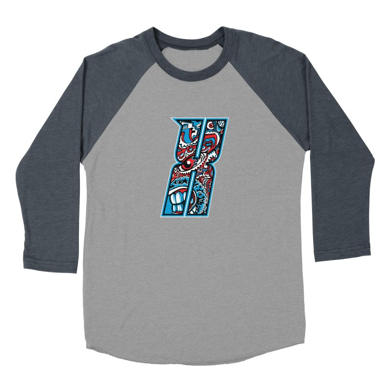 Crazy Face Alphabet (X) Men's Longsleeve T-Shirt by Yaky's Customs