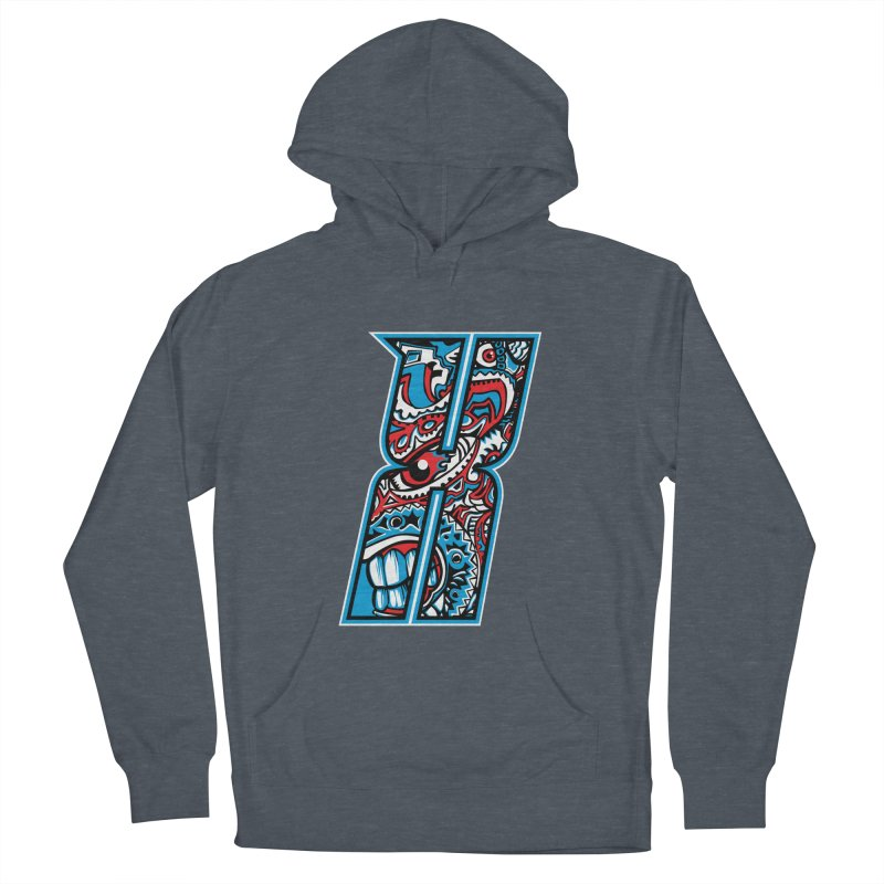 Crazy Face_X001 Women's French Terry Pullover Hoody by Art of Yaky Artist Shop