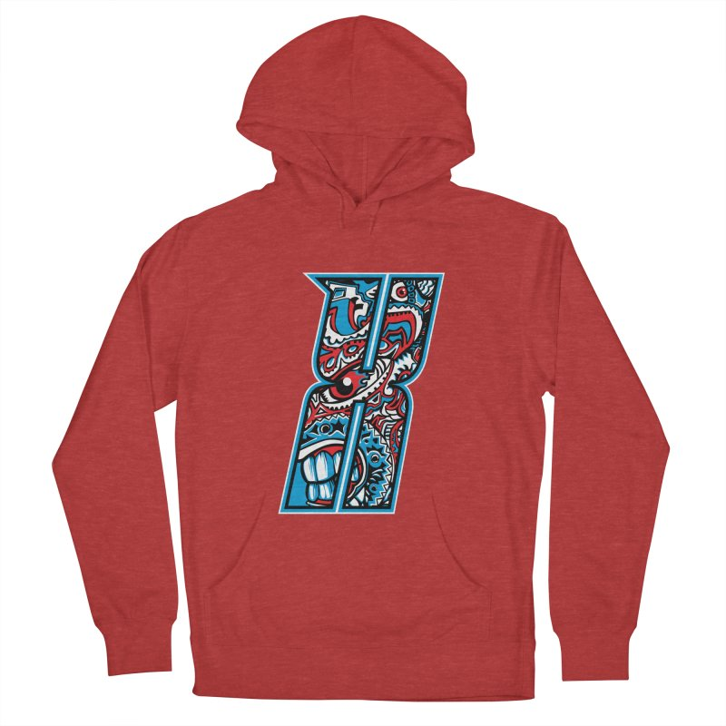 Crazy Face_X001 Men's French Terry Pullover Hoody by Art of Yaky Artist Shop