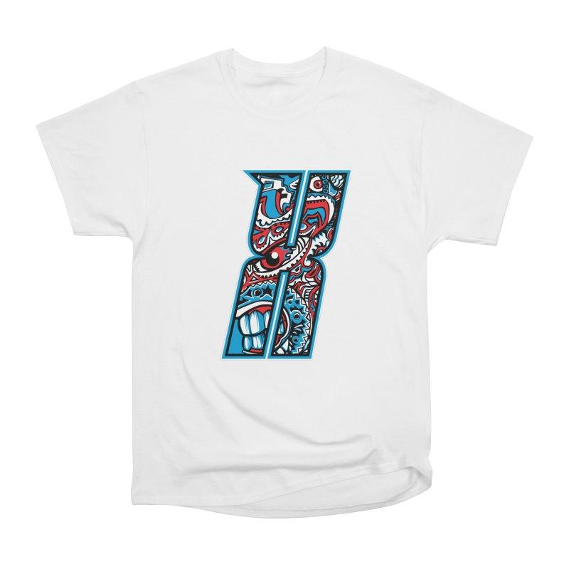 Crazy Face_X001 Men's Heavyweight T-Shirt by Art of Yaky Artist Shop