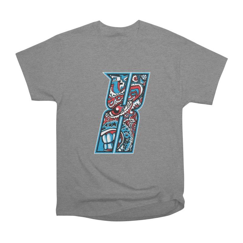 Crazy Face_X001 Women's Heavyweight Unisex T-Shirt by Art of Yaky Artist Shop