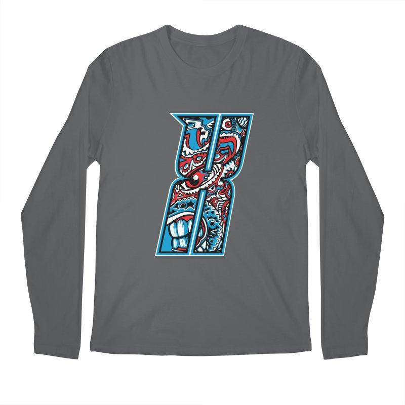 Crazy Face_X001 Men's Regular Longsleeve T-Shirt by Art of Yaky Artist Shop