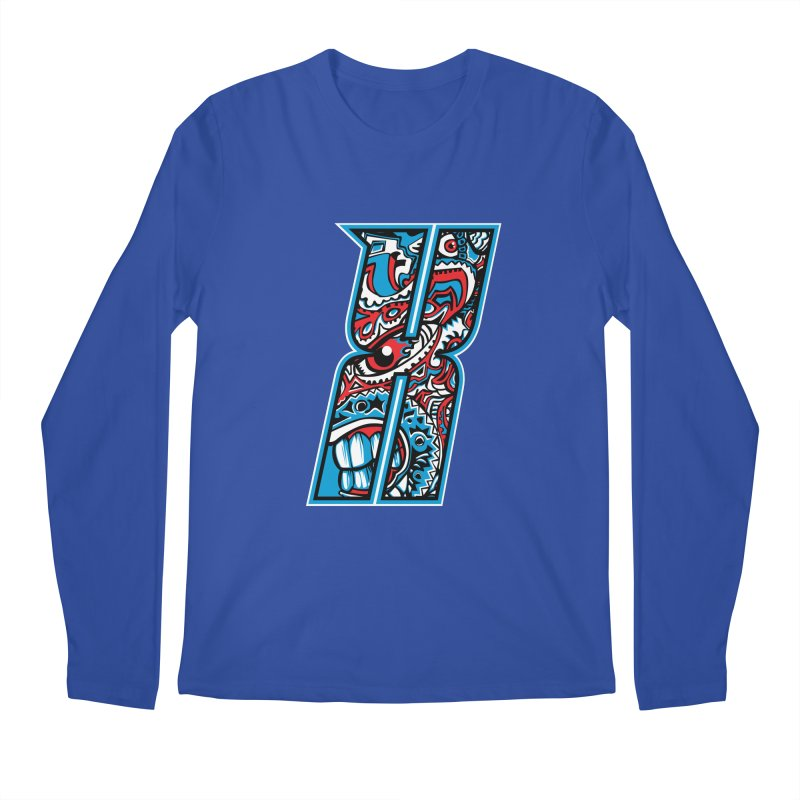 Crazy Face_X001 Men's Regular Longsleeve T-Shirt by Art of Yaky Artist Shop