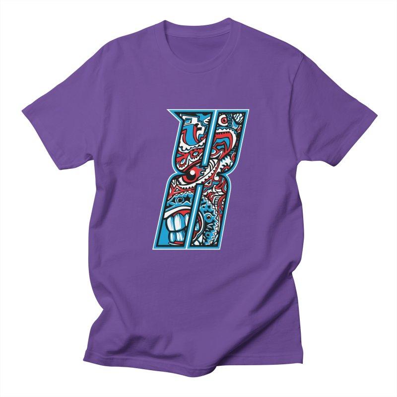 Crazy Face_X001 Men's Regular T-Shirt by Art of Yaky Artist Shop