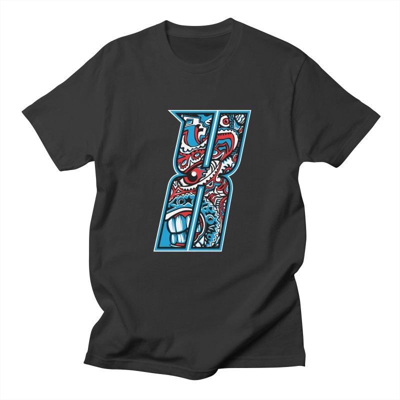 Crazy Face_X001 Women's Regular Unisex T-Shirt by Art of Yaky Artist Shop