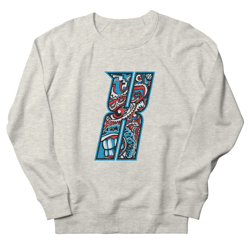 Crazy Face_X001 Women's French Terry Sweatshirt by Art of Yaky Artist Shop