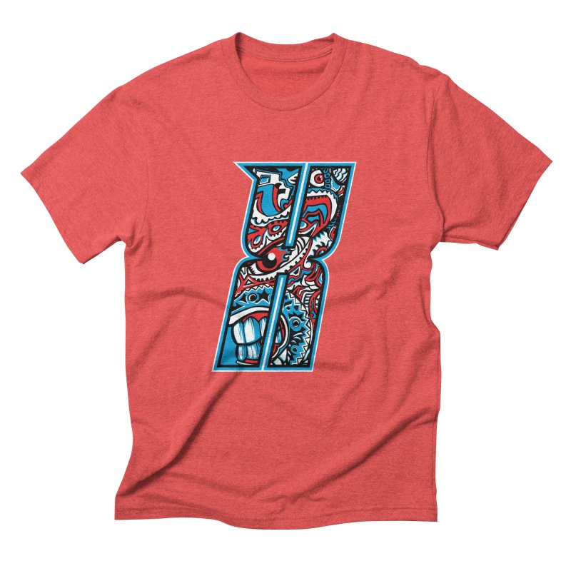 Crazy Face_X001 Men's Triblend T-Shirt by Art of Yaky Artist Shop