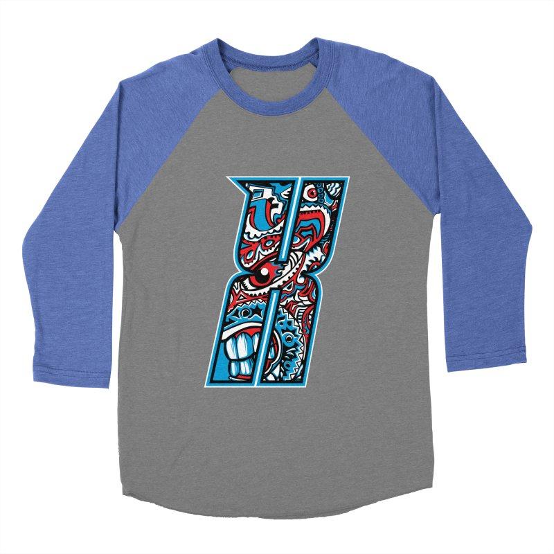 Crazy Face_X001 Women's Baseball Triblend Longsleeve T-Shirt by Art of Yaky Artist Shop
