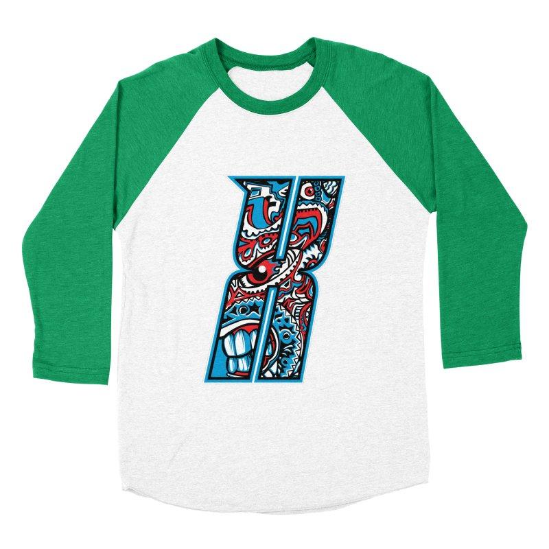 Crazy Face_X001 Men's Baseball Triblend Longsleeve T-Shirt by Art of Yaky Artist Shop